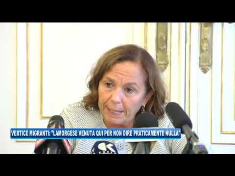 09/09/2020 - VERTICE MIGRANTI: 'LAMORGESE VENUTA QUI PER NON DIRE NULLA