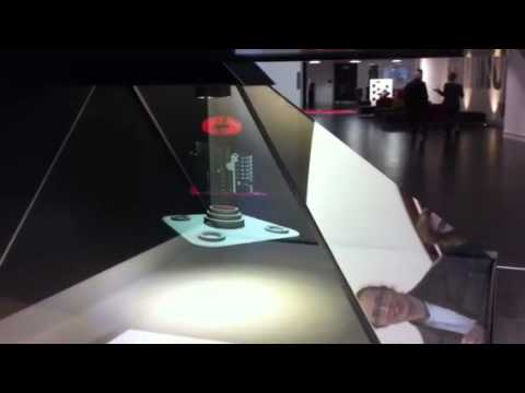 holographic animation - Holographic presentation filmed in Media City, University of Salford building; it's the first public presentation of this technology in the UK!