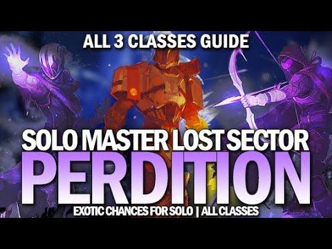 Solo Master Lost Sector Perdition Guide (All 3 Classes) [Destiny 2]