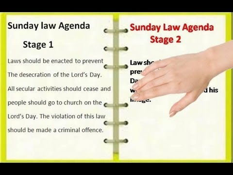 A National Sunday Law conspiracy the Adventists do not know about - as yet