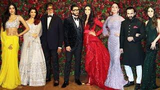 Deepika Padukone  Ranveer Singh's Star Studded Reception Full HD Video
