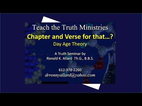 Day Age Theory (w/slides) Biblically...