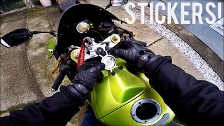 In this motovlog I tell you how easy it is to get the all new DJ MotoVlogs stickers and I have another close call because Im stupid. I hope you enjoy this vl...