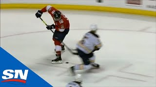 Aleksander Barkov Puts Puck Between His Legs Then Sneaks Goal By Linus Ullmark by Sportsnet Canada