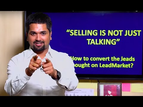 Selling Is Not Just Talking by CS Sudheer | LeadMarket IndianMoney.com