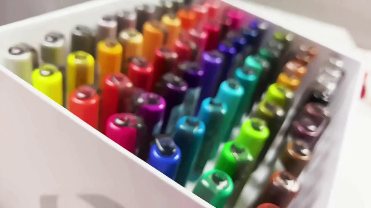 "Набор маркер-кистей Karin ""Brushmarker Pro"" Базовые цвета 11 цв. + маркер-блендер видео"