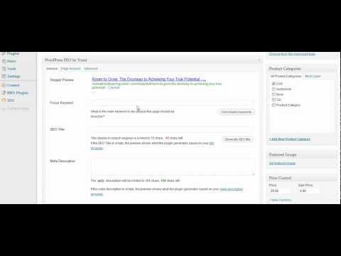 Setting up WordPress eCommerce Plugin Part 3