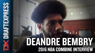 DeAndre Bembry Interview at the 2016 NBA Draft Combine