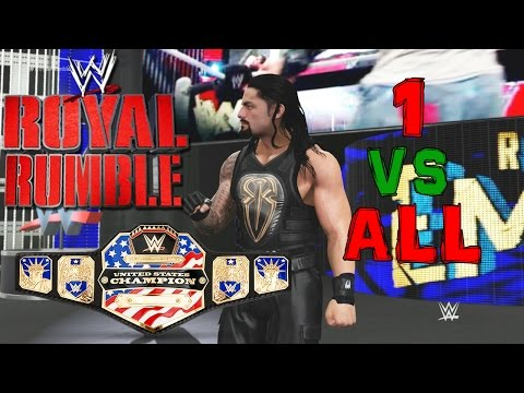 "WWE 2K17 - Roman Reigns ""1 vs All"" US Championship Match (30-Man Royal Rumble)"