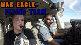 Here's another video from a War Eagle Flying Team practice!  Find out more information about the War Eagle Flying Team and buy Auburn Aviation gear at WarEagleFlyingTeam.org !Remember to Immerse in Aviation!   War Eagle and Fly Auburn!!Don't forget to Subscribe to the Channel and Like the Video!  Thanks guys!
