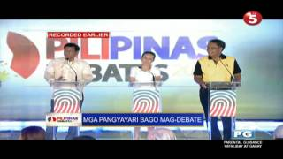 Video Duterte, Poe, and Roxas trying to entertain the crowd (Pre-debate Part 1) MP3, 3GP, MP4, WEBM, AVI, FLV Mei 2018