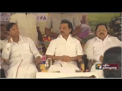 Live-DMK-Hunger-strike-protest-against-central-govt-over-its-stand-on-Cauvery-issue-in-Thanjavur