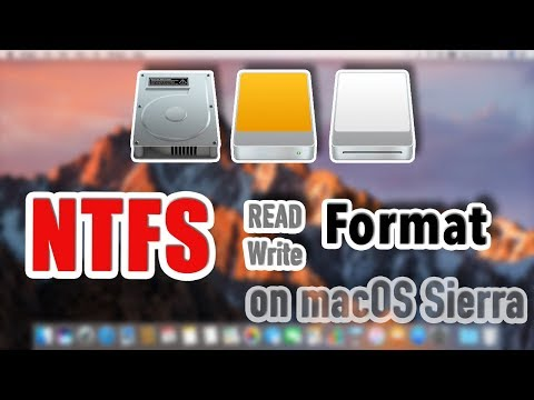 macOS Sierra - How to read / write / format NTFS  drive on mac