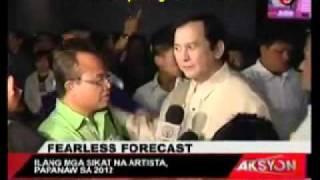 FEARLESS FORECAST OF PHILIPPINE SHOWBIZ THIS COMING 2O12