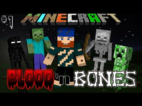 Modded Minecraft | Blood n Bones | Ep 01 Sheep Killers