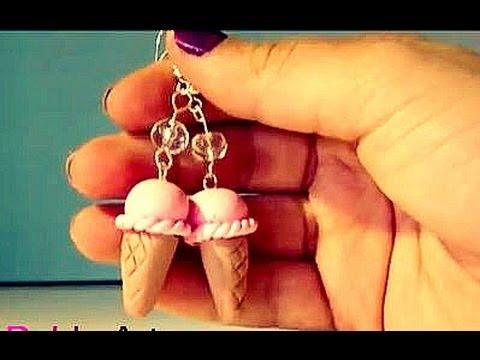 fimo - orecchini gelato