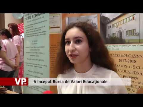 A început Bursa de Valori Educaţionale