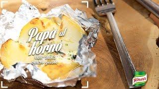 Papa al horno Knorr® Sabores Cuatro Quesos