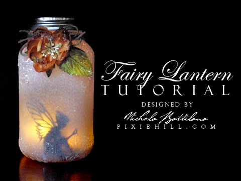 diy - lanterns with fairies