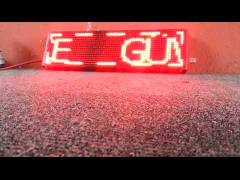 Orjitek Led Ekran Sistemleri Güzergah Panosu P6mm Kırmızı Yüksek Parlaklık ve Kumandalı