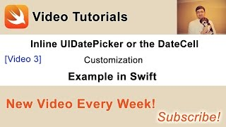 In this video we will learn how to add UIDatePicker to other rows in UITableView.You can find other videos from this series and a source code of this project in my blog post at: http://swiftdeveloperblog.com/inline-uidatepicker-or-datecell-example-in-swift/