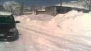 Geben Kasabası Çamlıca Mahallesi Kar Manzarası.