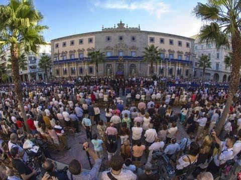 Procesión Magna Rociera Celebrada en Huelva.