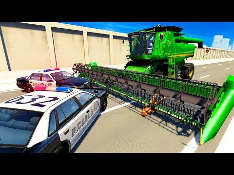 WILD POLICE ROADBLOCK & BLOCKADE CRASHES AND FAILS! - BeamNG Drive Crash Test Compilation Gameplay!