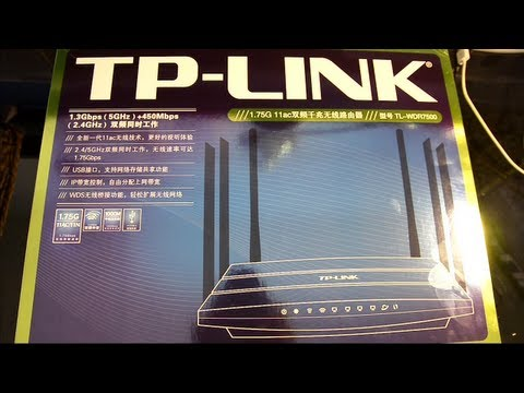 TP-Link TL-WDR7500 Wireless AC Router Unboxing and Review
