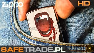 """KUP TERAZ / Buy It Now: http://safetrade.pl/zippo-vampiress-chrome-lighterFacebook: http://www.facebook.com/SafeTradeMusic: Whithe - Garçon (Meaning of Life)Zippo Vampiress High Polished Chrome Lighter Zapalniczka 28654  www.safetrade.pl[ZIP-80] Unikalna Zapalniczka Zippo™ Vampiress Polished Chrome  [ZIP-80] Unikalna Zapalniczka Zippo™ Vampiress Polished Chrome Najwyższej jakości oryginalna zapalniczka benzynowa Zippo USA Tylko tutaj możesz obejrzeć produkt przed zakupem na żywo w HD! Zapalniczka z prestiżowej kolekcji Zippo, trudno dostępna w Polsce Oryginalny, niepowtarzalny model Vampiress Polished Chrome Chromowane zęby wampirzycy! Unikalny i niepowtarzalny wzór Zippo Koniecznie zobacz ten model na żywo na naszej prezentacji wideo HD! Unikalny model, idealny na wyjątkowy prezent lub upominek Wykończenie: Polished Chrome™ (polerowany chrom, lustro) Grafika przedstawia twarz wampirzycy po """"posiłku"""" Oryginalne opakowanie gift box Fabrycznie nowa prosto od producenta 100% pewności - u nas zawsze dokładnie widzisz co kupujesz Trudno dostępny model, praktycznie nie do nabycia w zwykłych sklepach Oryginalna plomba nowości (zapalniczka nigdy nie otwierana, nie napełniana) W zestawie również oryginalna broszura informacyjna (instrukcja, gwarancja) Dodatkowa pełna instrukcja obsługi w j. polskim (*.pdf do pobrania i druku) Do każdej zapalniczki Zippo należy wyposażyć się również w paliwo premiumwww.safetrade.pl, safetrade.pl, safetrade, www_safetrade_pl, www-safetrade-pl, sklep, store, unboxing, zippo, ligther, vampiress, vampire, wampir, wampirzyca, chrome, chrom, 28654, zapalniczka, polished chrome, polerowany chrome, unikat, vampiress 2, blood"""