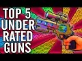 """Top 5"" ""Underrated Weapons""/""Underrated Guns"" in ""Call of Duty Zombies"" ~ ""Black Ops 2 Zombies"""