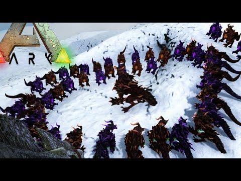 Ark survival Evolved - 50 Godlings VS Dragon God (Epic Gameplay Moments)