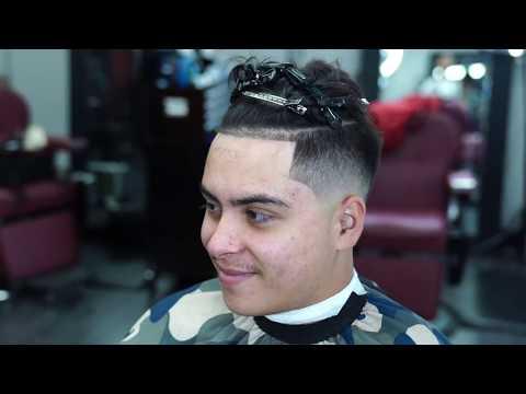 Haircut Tutorial  MID-DROP FADE  UNDERCUT
