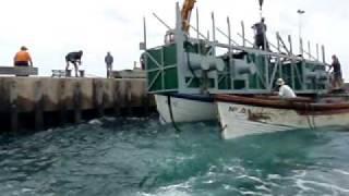 Kingston Norfolk Island  City pictures : Pontoon lands Kingston Pier Norfolk Island