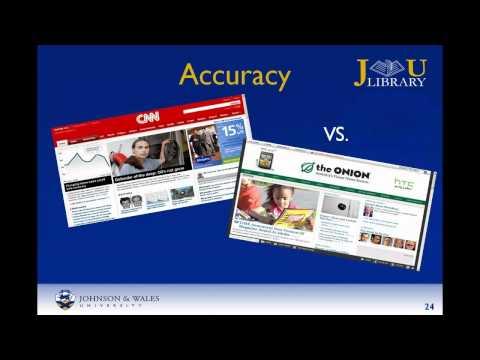 Смотреть онлайн видео Evaluating Websites - eWISE Research Process.