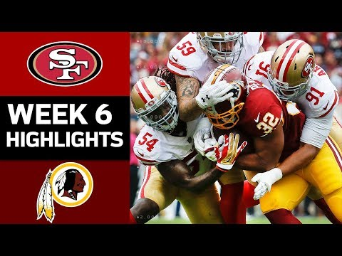 Video: 49ers vs. Redskins | NFL Week 6 Game Highlights
