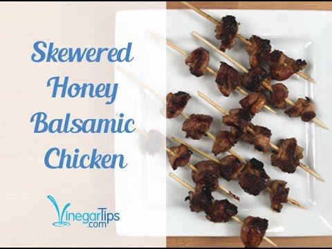 Skewered Honey Balsamic Chicken