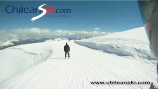 Volcán ski trail video, Termas de Chillán Chile
