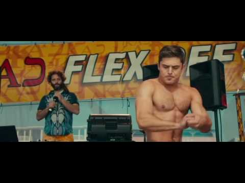 Dirty Grandpa De Niro showing muscle at 72 yrs old