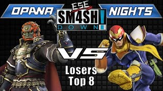 ESE Smashdown  4 NiGHTS(Captain Falcon) vs. ESE Opana(Ganondorf) – Don't Taunt!