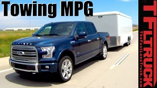 2016 Ford F-150 Limited 3.5L EcoBoost V6 Towing MPG Review by The Fast Lane Truck