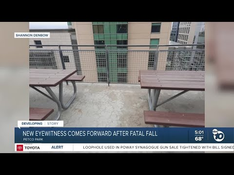 New eye witness comes forward after fatal fall at Petco Park