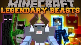 Minecraft : LEGENDARY BEASTS (EPIC BOSSES AND WEAPONS) Mod Showcase
