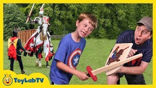 It's knight versus knight in a real life jousting battle and Aaron vs LB in a sword fight challenge as they head to a Renaissance ...