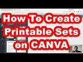 Canva Tutorial On How To Make Printable Packages And Sets