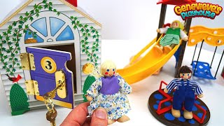 Toy Dollhouse and Barn Fun for Kids!