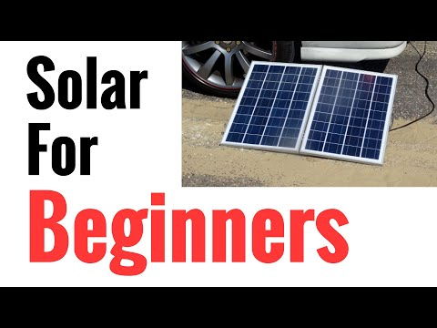 Solar Panel Systems for Beginners – Pt 1 How It Works & How To Set Up