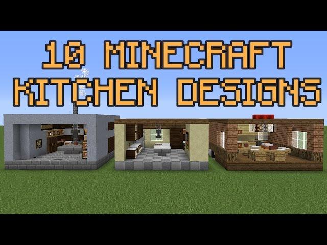 10 minecraft kitchen designs for Kitchen designs in minecraft