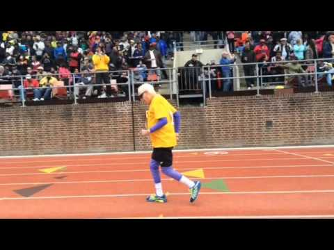 100 year-old sets world record for 100-yard dash at Penn Relays