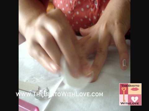 Manicura con papel de aluminio
